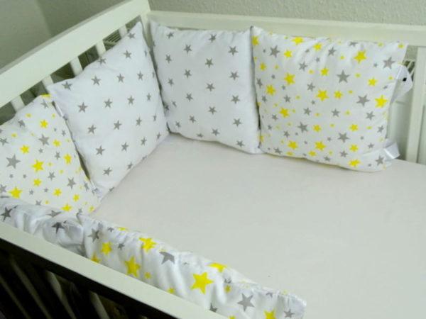 Nestchen Kissen gelb