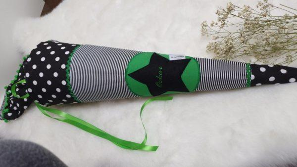 Schultüte Stern grün