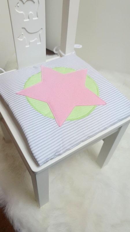 Stuhlauflage rosa