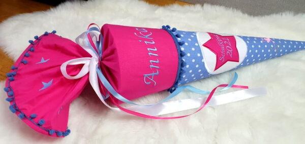 Schultüte pink blau